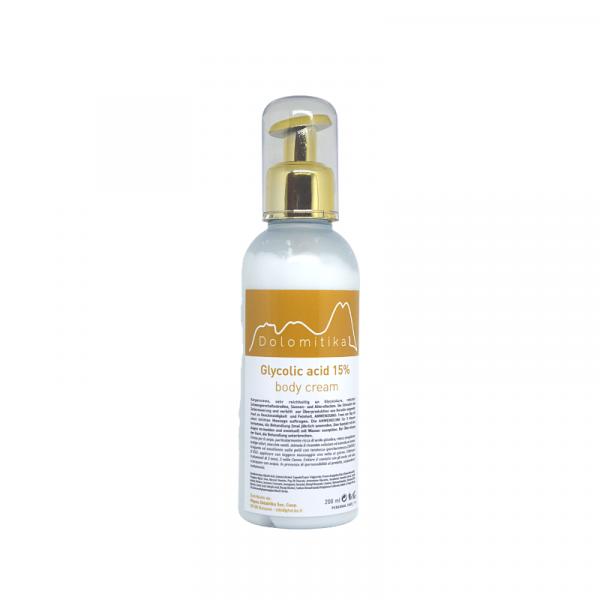 043 - Crema Corpo all'Acido Glicolico al 15% 200ml - Dolomitika