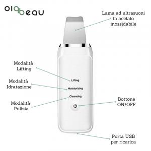 Spatola Skin Scrubber Ionic per Pulizia Viso